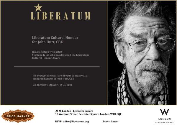 Liberatum John Hurt Invite