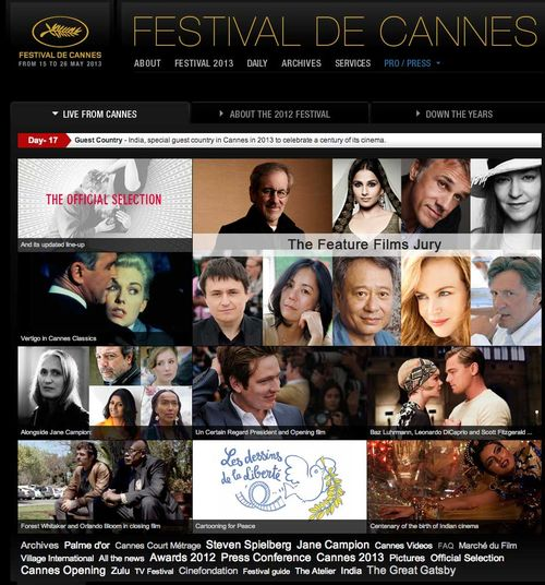 Festival de Cannes   From 15th to 26th May 2013 copy