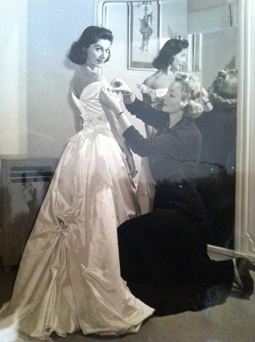 NJulie Harri's fitting Maureen Swanson's glamorous gown Royal Film Performance