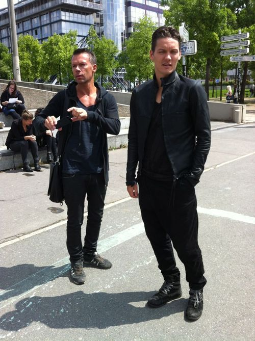 Rick owens street looks paris men's fashion week ss20141