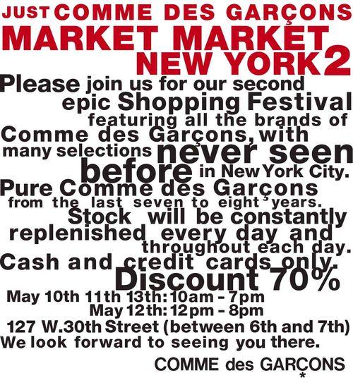 JUST COMME DES GARCONS NEW YORK MARKET MARKET 2 E-DM