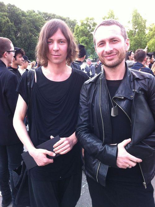 Rick owens street looks paris men's fashion week ss20142