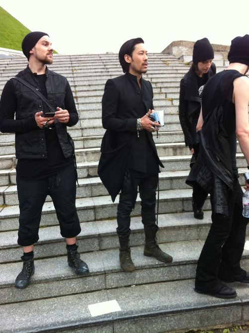 Rick owens street looks paris men's fashion week ss20143