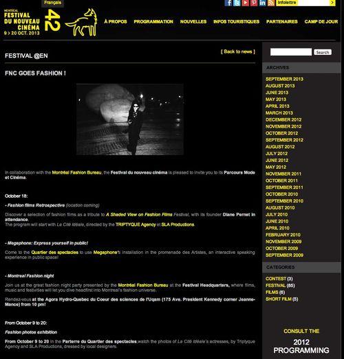 FNC GOES FASHION   « Festival du nouveau cinéma _ copy