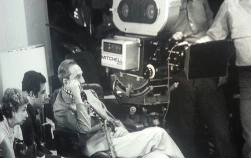 Luchino Visconti on set