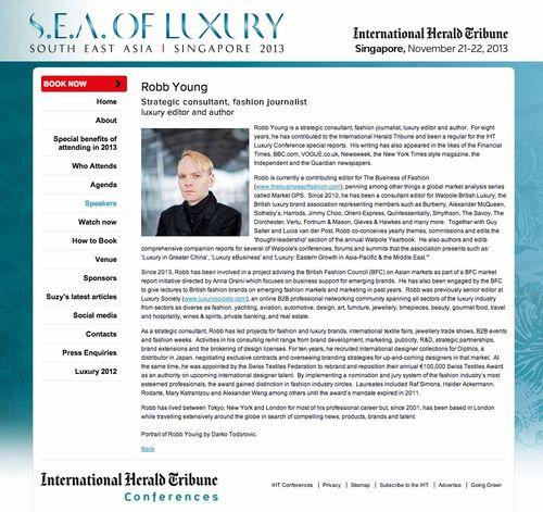 Robb Young   IHT Luxury   International Herald Tribune Conferences copy