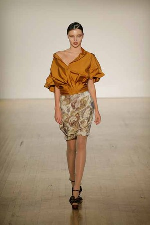 Miranda_in_golden_shirt_monet_skirt