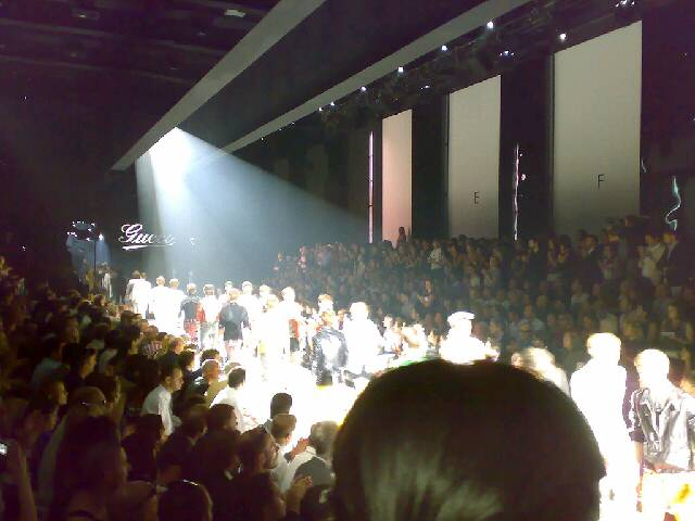 Gucci show in Milan